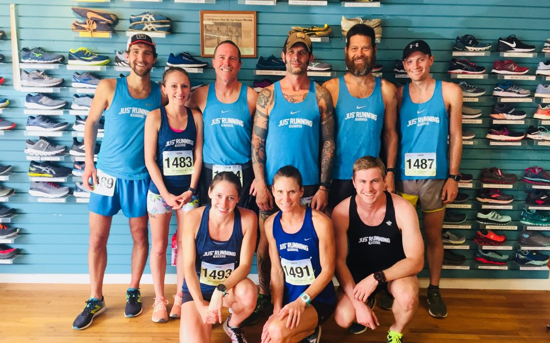 The Jus' Running Race Team At The Helm of the Asheville Running Community